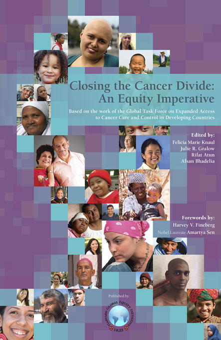 Cover: Closing the Cancer Divide: An Equity Imperative, from Harvard University Press